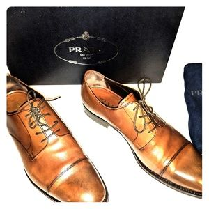 Prada Men's Dress Shoes Brown 7 1/2